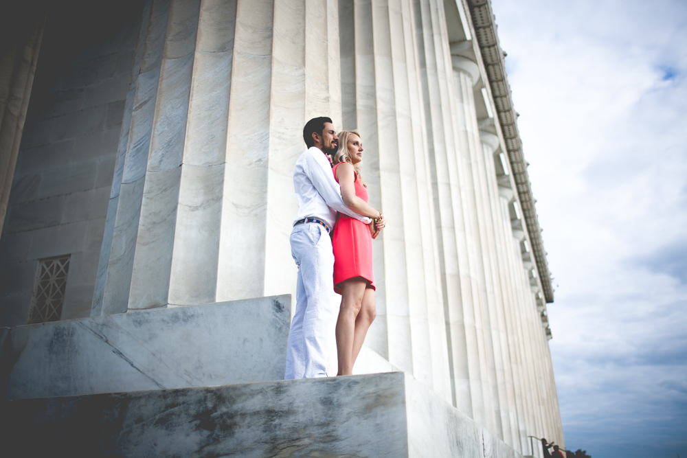 Lincoln Memorial Engagement Portraits